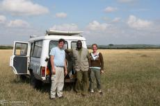 IMG 8666-Kenya, Thomas, Nadine and our competent ranger in Masai Mara